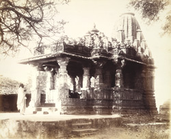 General view of the Nilakantha Mahadeva Temple, Sunak 1942